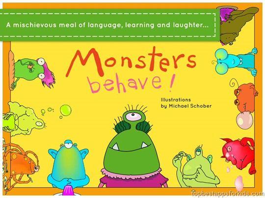 Monster Behave App for Kids iPad