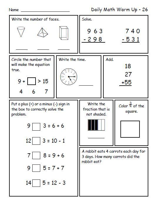 Daily Math Warm Ups For Second Grade Third Trimester Daily Math Math Spiral Review Spiral Math Di 2020