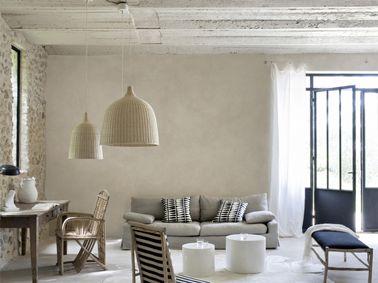 peinture-a-effet-cire-naturelle-dans-salon-maison-deco - Décoration ...