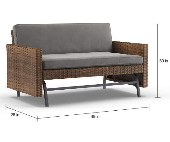 I Found A Shadow Creek All Weather Wicker 2 Person Cushioned Patio