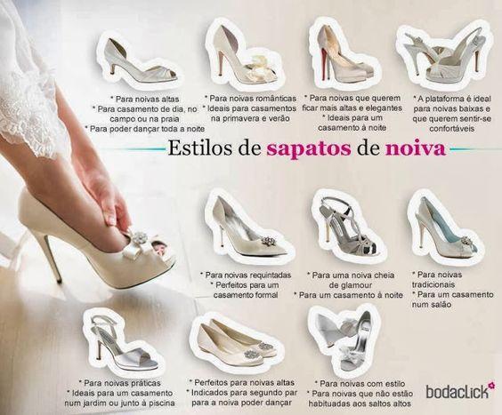Casório Perfeito: Estilos de Sapatos de Noiva!