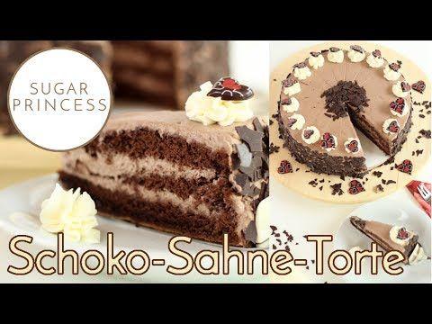 Schokokuchen Mit Saurer Sahne Und Kirschen Kuchen Pudding Kuchen Blechkuchen