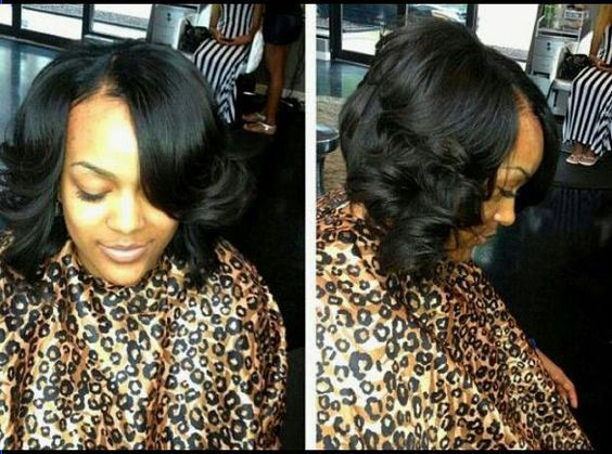 Curly Bob Weave Hairstyles Quick weave or natural hair random ...