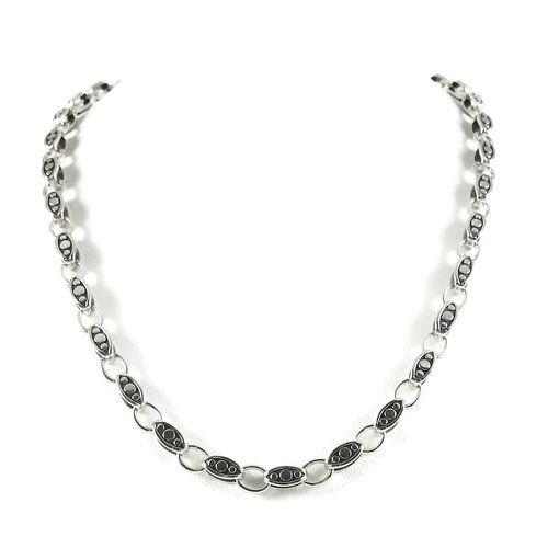 John Hardy Dot Basic Ebony Link Necklace, 18