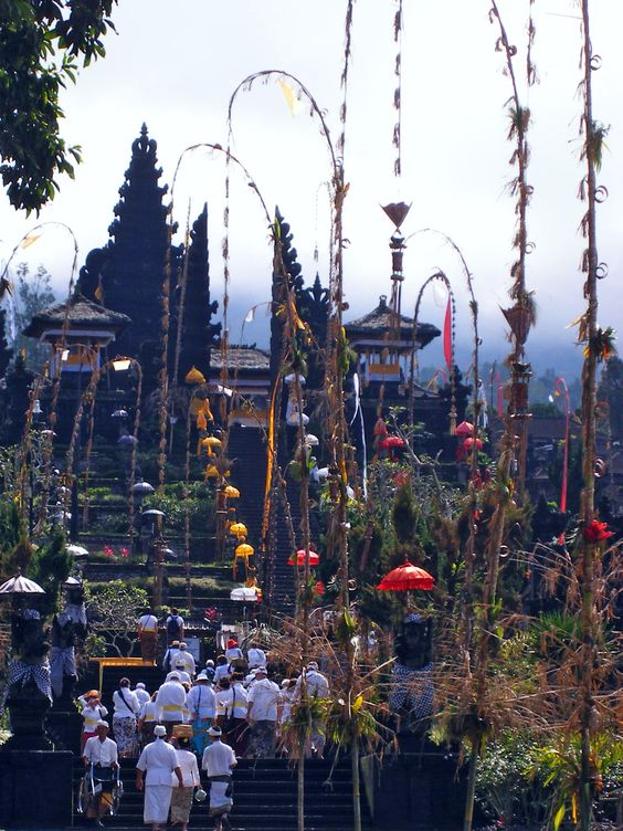 Besakih Temple, Bali. Bali is often called the land of 10,000 temples, and while no one actually  has quite an exact count, that's as good a number as any to work with – considering that every house, village and even many businesses contain temples.