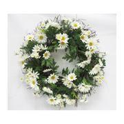 22'' Daisy Wreath- Whtie