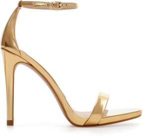 gold strappy high heel sandal-high heel strappy sandals  Bridal