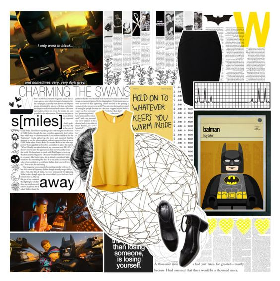 """""""First lesson is: Life doesn't give you seatbelts /// Batman"""" by fangirl-forever-1 ❤ liked on Polyvore featuring Love Quotes Scarves, Arteriors, Jacques Vert, Banana Republic and Pierre Hardy"""