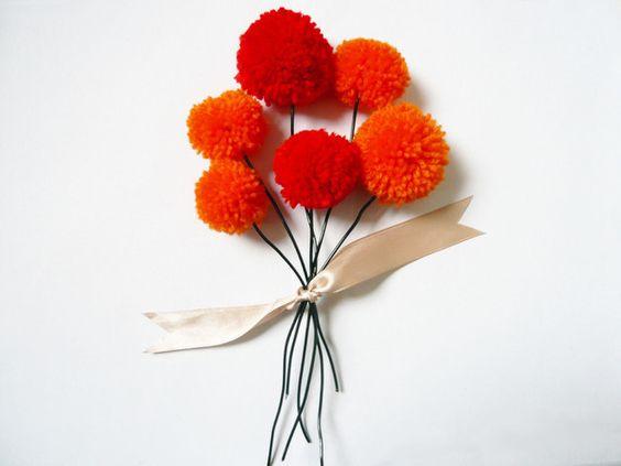 Pom-Pom-Blumen