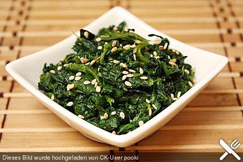 Spinatsalat mit Sesamdressing (Rezept mit Bild) von coffeeaddict | Chefkoch.de