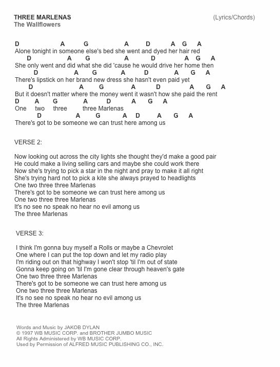 The Wallflowers Song Lyrics Three Pinterest Songs - market research analyst resume
