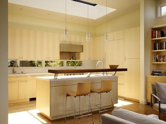 Isla desayunador interiores pinterest barra cocina for Altura meson cocina