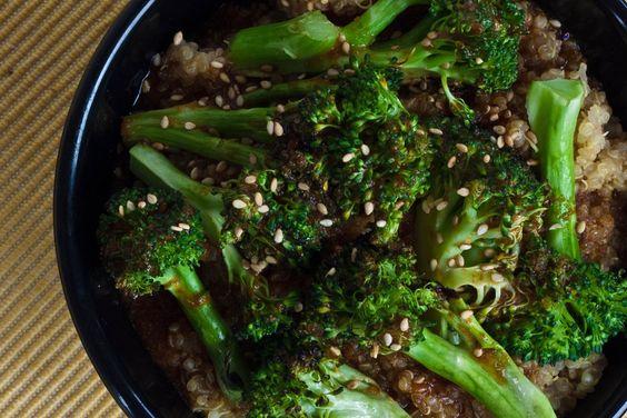 szechuan broccoli and quinoa