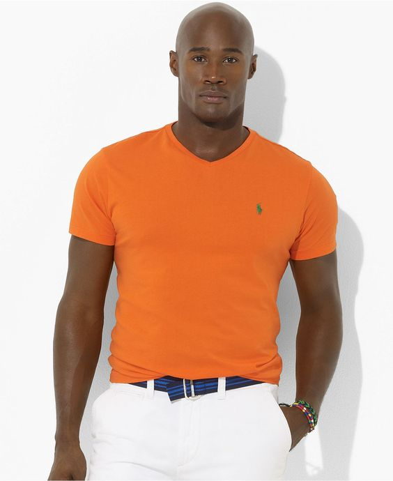 Polo Ralph Lauren Big And Tall Shirt Short Sleeved Neon V