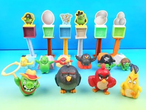 2016 The Angry Birds Set Of 10 Mcdonalds Happy Meal Movie Toys