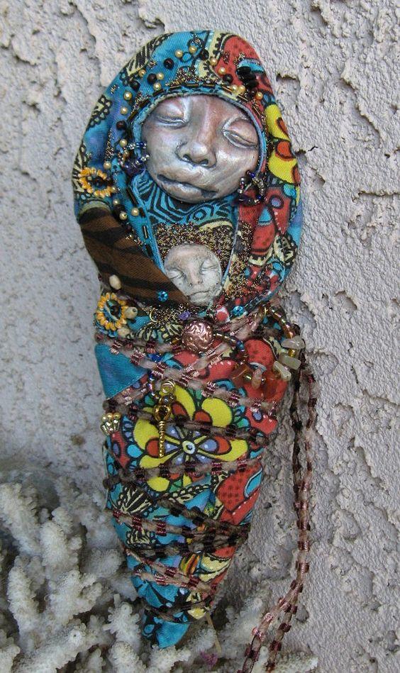 Hestia Mother Goddess  Bohemian spirit art doll  by awesomeart