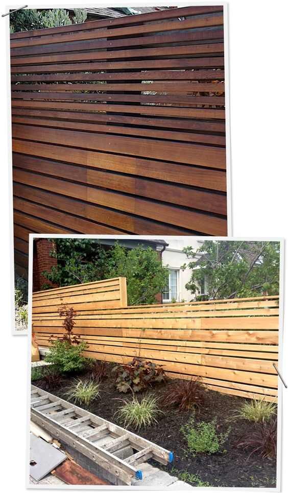 Horizontal fence, Fence and Modern on Pinterest