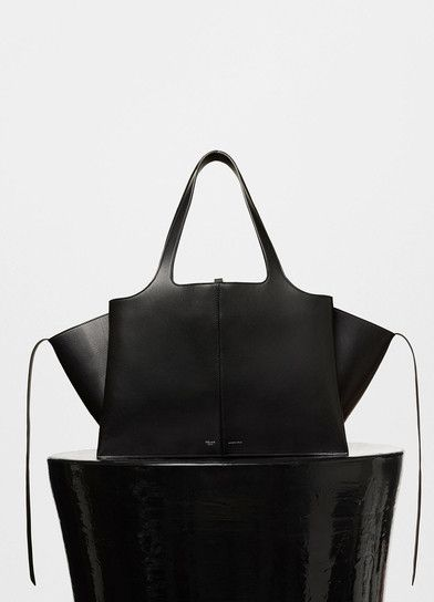 celine pouch price - Medium Tri-Fold Shoulder Bag in Black Supple Natural Calfskin ...