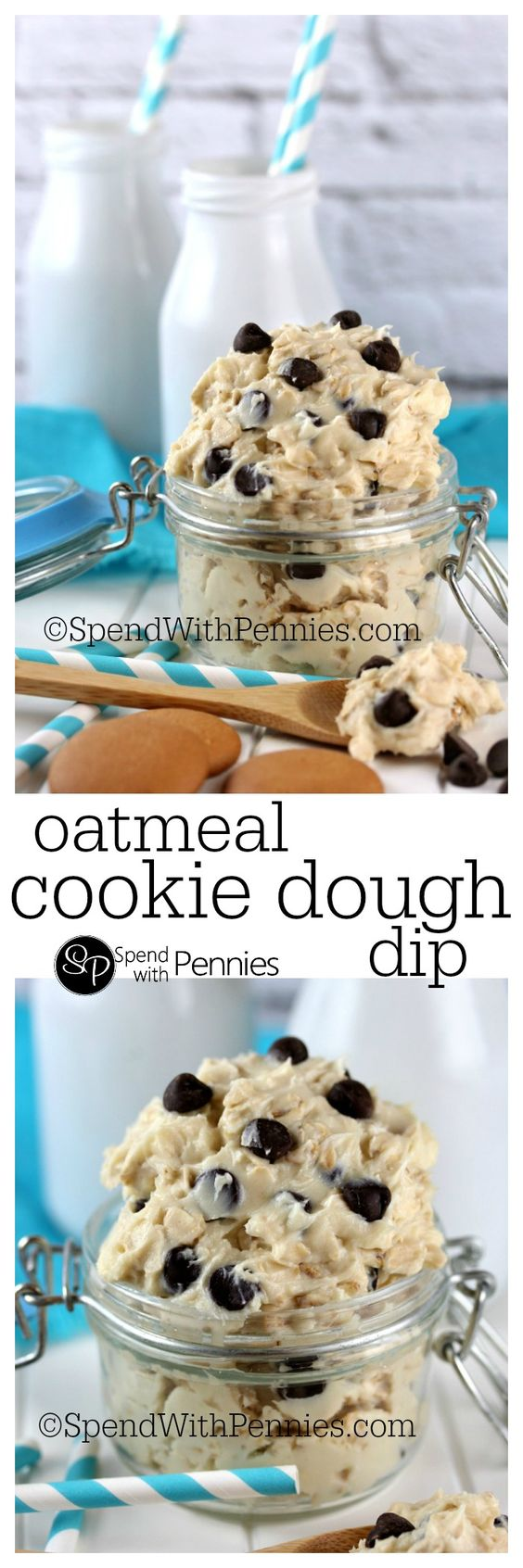 Oatmeal Cookie Dough Dip | Recipe | Cookie Dough Dip, Cookie Dough and ...