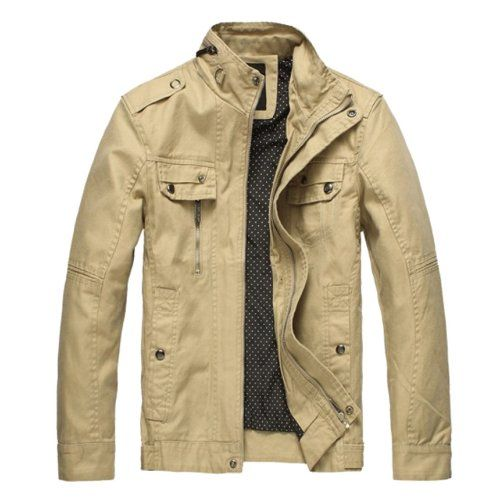 Men's Casual Slim Jacket & Outcoat LD2188 (US Large Regular Fit ...