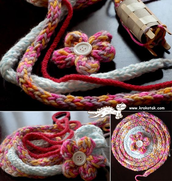 Knitting Knobby Projects : Ideas for lucet knitting projects and making your own