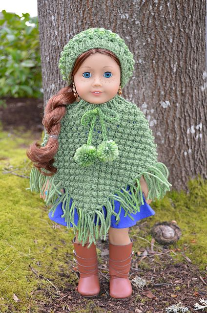 Ravelry, American girls and Ponchos on Pinterest