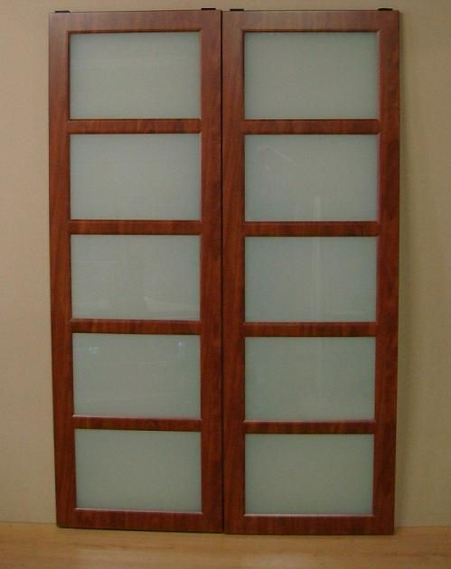 Mirrored Closet Doors With Wood Inlay Stanley