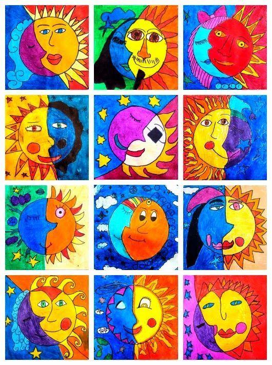 Soleil La Lune And Peindre On Pinterest