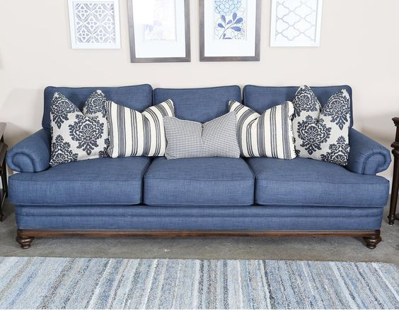 Magnussen Home Grant Traditional Sofa With Rolled Arms And