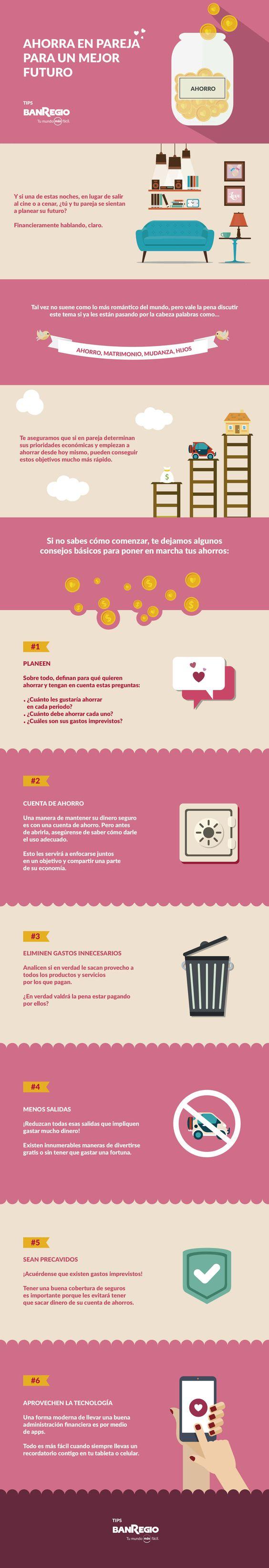Ahorro, mudanza, viajes, matrimonio, hijos, ahorrar en pareja, pareja, novios, tips de pareja, novia, novio, consejos de infografico, ilustracion, iconos, infografia, infografias, vida en pareja