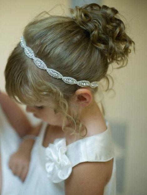 Flower girl, Headpiece, Headband, Flower Girl Hair Accessories, Child Headband, Weddings, Bridal Accessories, Rhinestone headband, Girl on Etsy, $28.00