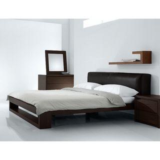 Platform Bedroom Sets Queen fenton modern dark brown queen platform bedbaxton studio