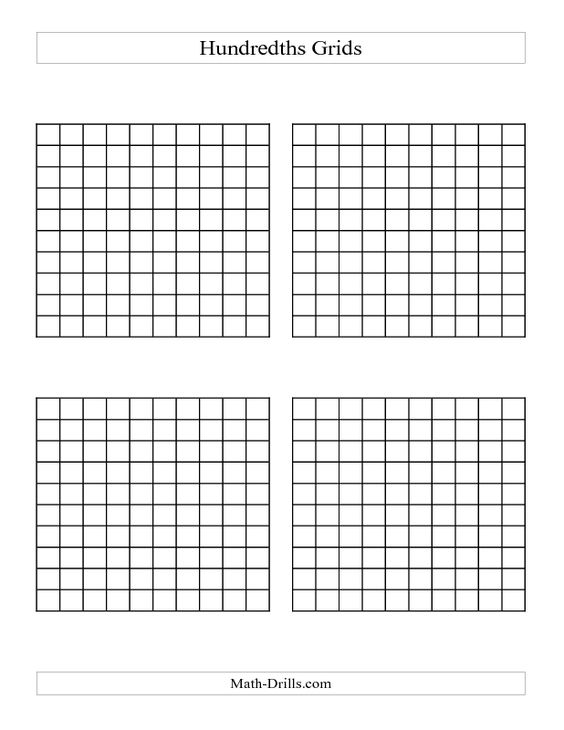 math worksheet : decimals worksheet  4 x hundredths grids european format  a  : Fun Decimal Worksheets