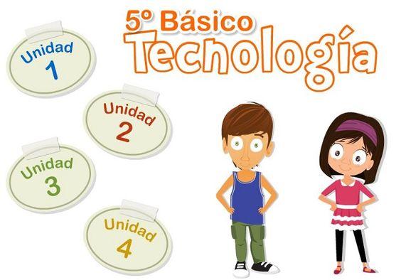 Libro digital de tecnología 5to grado de educación primaria, editado y publicado por el ministerio de educación de Chile.