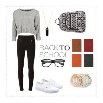 """School Essentials"" by itskinglega on Polyvore featuring Givenchy, Vans, Monica Rich Kosann, Vera Bradley, Odeme, outfit, school and essentials"