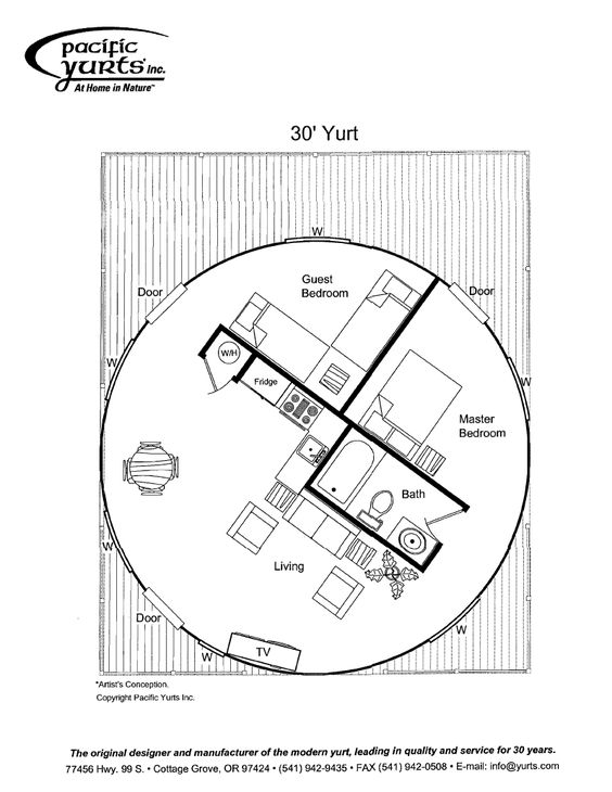 yurt floor plan. more complex than we would ever get into, but... some food for thought: