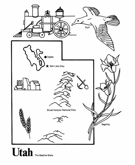 utah coloring pages gallery