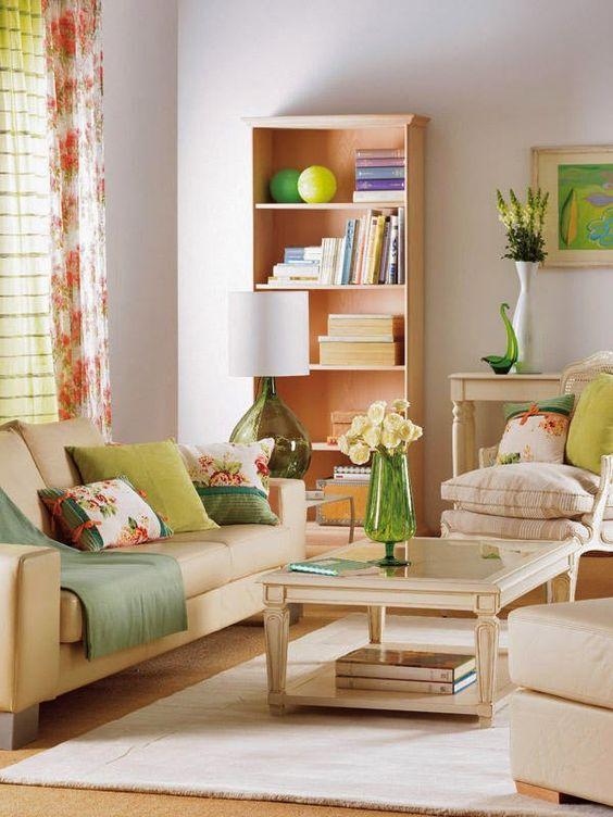 Salas pequenas simples coloridas e modernas miau for Quiero tus muebles