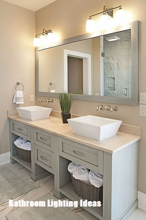 Helpful Bathroom Lighting Ideas Contemporary Master Bathroom Bathroom Remodel Master Bathrooms Remodel