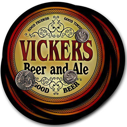 Vickers Beer & Ale - 4 pack Drink Coasters ZuWEE…