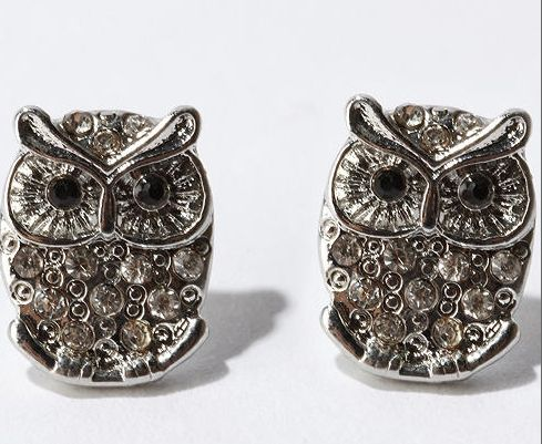 owl earrings, love these.