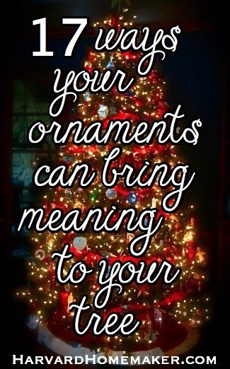Let your tree tell your family's story! Each year as you decorate your tree, you can be reminded of all those wonderful moments! #christmastree #christmastraditions #ornaments #harvardhomemaker