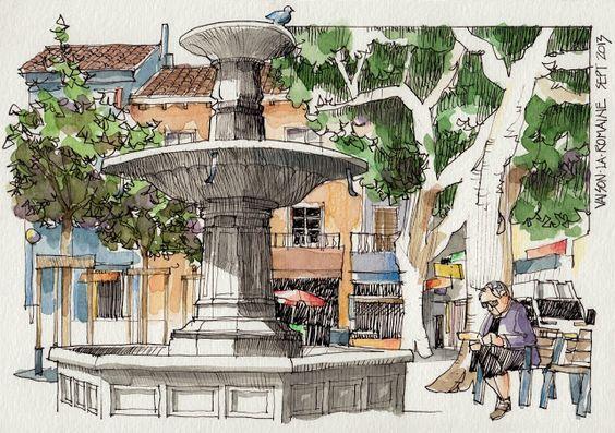 JR Sketches: Luberon, France 2013 1 - Set 2013
