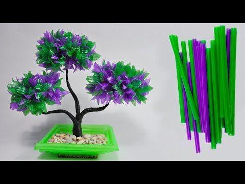 Cara Membuat Tanaman Hias Dari Sedotan Kreatif Diy Bonsai