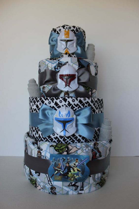 star wars baby shower cake more baby shower star wars diaper cake star