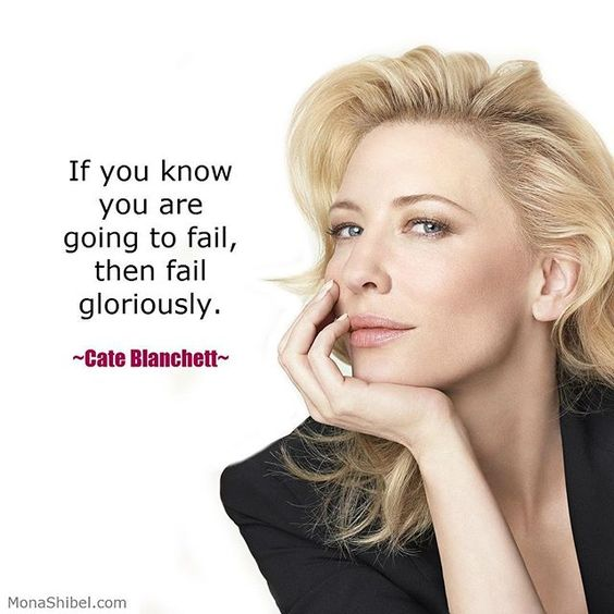Fail at something that actually matters to you. ❤️ ______________________________  Follow @monashibel for more inspiring quotes by women.  ______________________________  #womeninbusiness #inspiringwomen #successfulwomen #womenentrepreneurs #cateblanchett