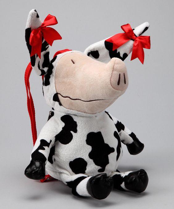 Olivia Plush Cow Backpack - Sooooo cute!