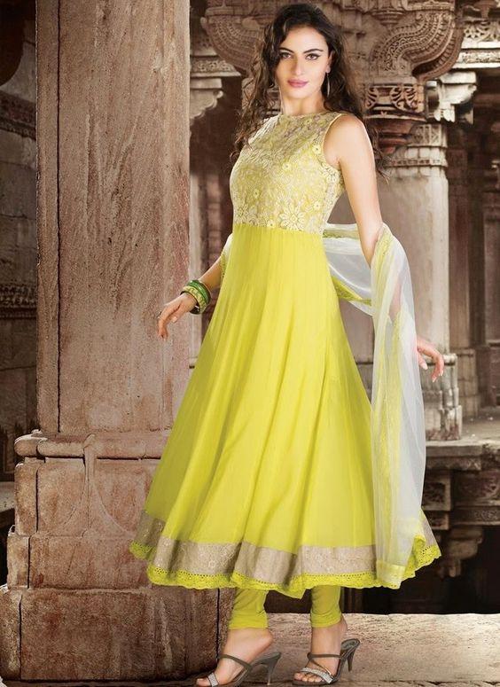 A beautiful yellow dress of #SalwarKameez ❤