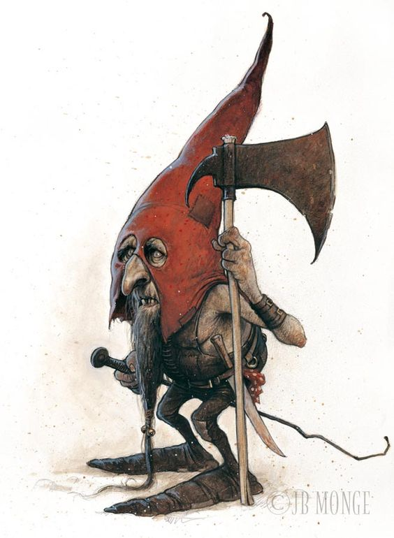 One of the keepers of safety in Gnome mans land. They're known for keeping away grouchy dragons, tomfoolery Trolls and their ilk.... All is well when they unite after dark.  artist Jean Baptiste Monge: