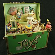 Enesco Action Toy Chest Music Box – circa 1986 - Charming